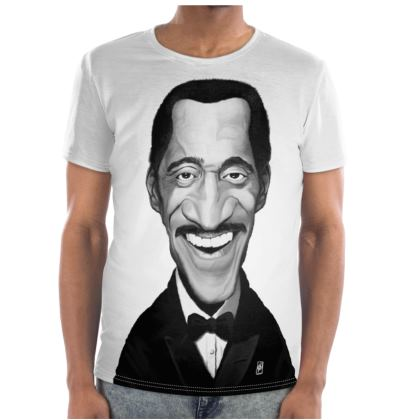 Sammy Davis Jnr Celebrity Caricature Cut and Sew T Shirt
