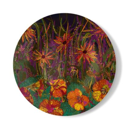 Autumn Flowers Decorative Plate