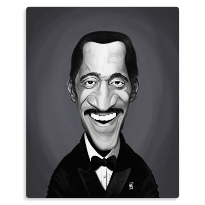 Sammy Davis Jnr Celebrity Caricature Metal Print
