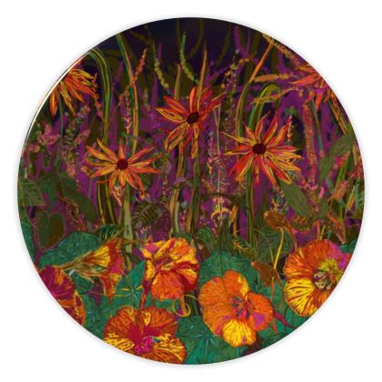 Autumn Flowers China Plate
