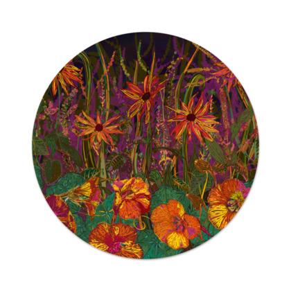 Autumn Flowers Serving Platter