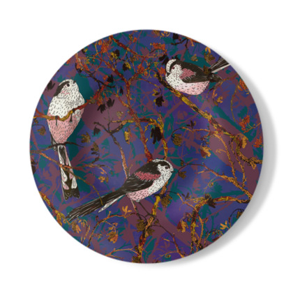Lovely Little Long-tailed Tit Decorative Plate