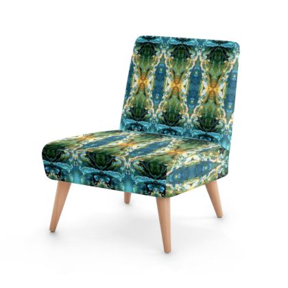 Elegant unique blue yellow green ornament Occasional Chair