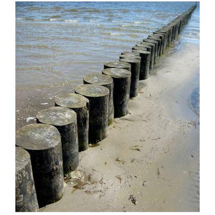 Summer Beach at the Baltic Sea Maritime Double Deckchair