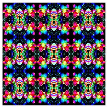 Cool Colorful Flower Pattern Ladies Bomber Jacket