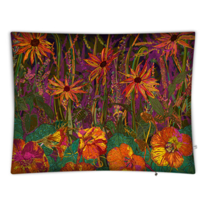 Autumn Flowers Rectangular Floor Cushion