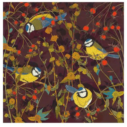 Beautiful Blue Tits Fabric Placemats