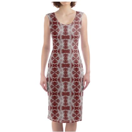 Red Gaudi Dress
