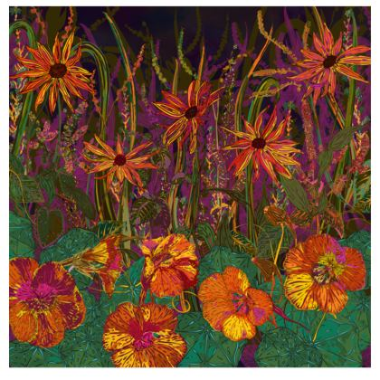 Autumn Flowers Fabric Placemat