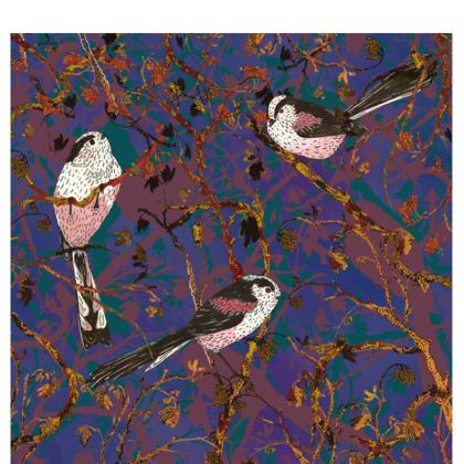 Lovely Little Long-tailed Tits Fabric Placemat