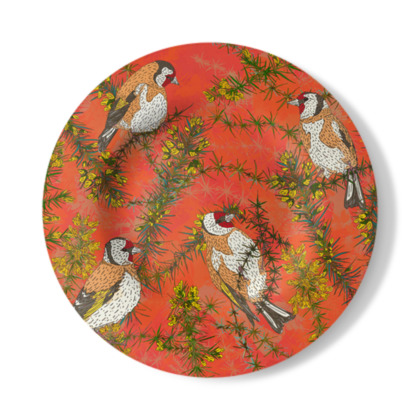 Goldfinches in Gorse Decorative Plate