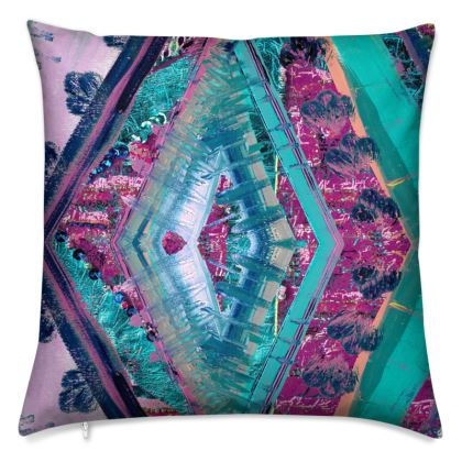 Scatter Cushion with Colourful Abstract Print
