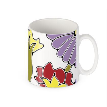 Springtime White Ceramic Mug