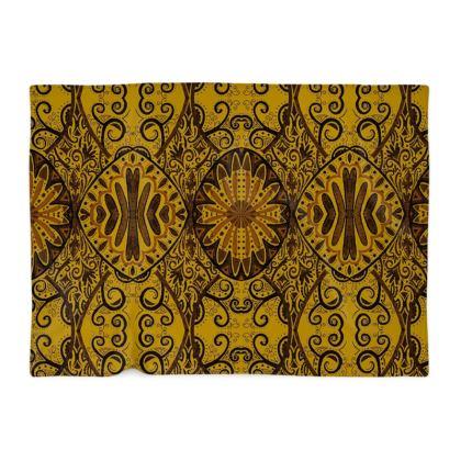 Mustard printed bohemian blanket