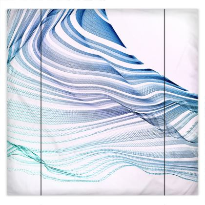 WAVE LOVE - Duvet Covers in blue and mint green on white