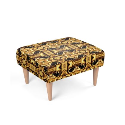 Brown abstract texture floral nature macro pattern footstool