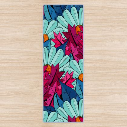 Yoga Mat - The leaves and the flowers
