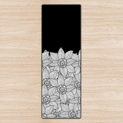 Yoga Mat - A flower field
