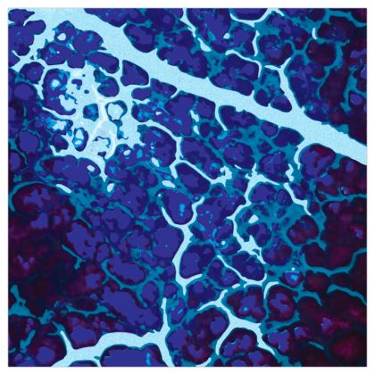 Deep-Blue Hypo-Realism Art Print