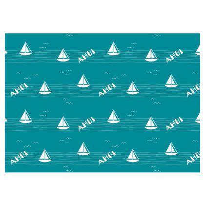 """Tischset Segelboot """"Ahoi"""""""