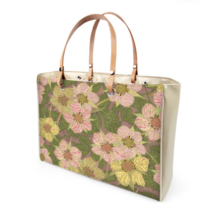 Strawberry Flowers (Natural) Handbag