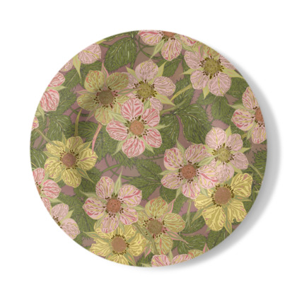 Strawberry Flowers (Natural) Decorative Plate