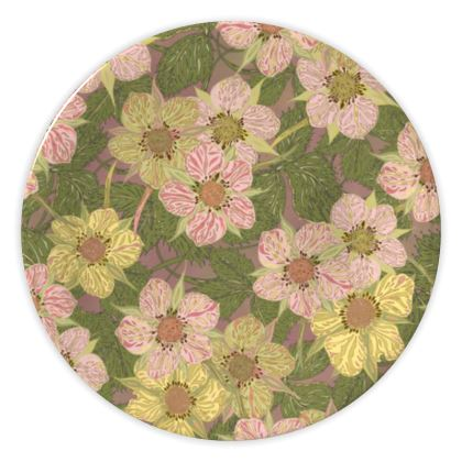 Strawberry Flowers (Natural) China Plate