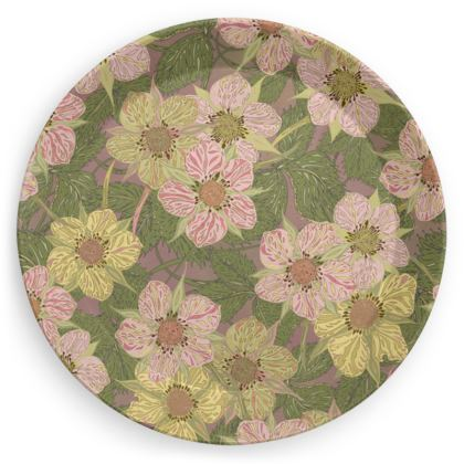 Strawberry Flowers Party Plates