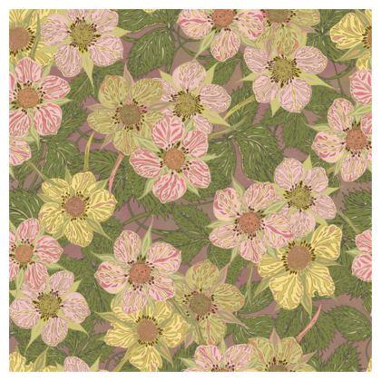 Strawberry Flowers (Natural) Serving Platter