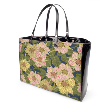 Strawberry Flowers (Dark) Handbag
