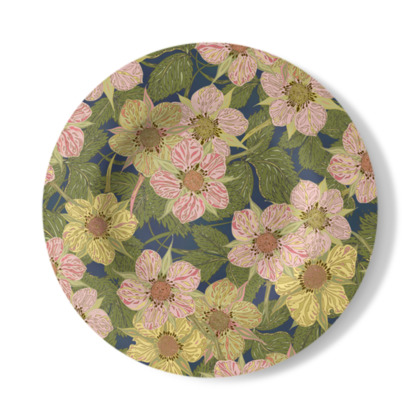 Strawberry Flowers (Dark) Decorative Plate