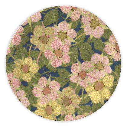 Strawberry Flowers (Dark) China Plate