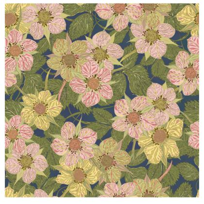 Strawberry Flowers (Dark) Fabric Placemat