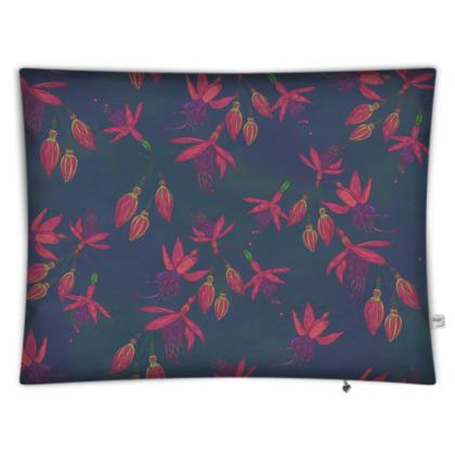 Fabulously Fuchsias (Dark) Rectangular Floor Cushion