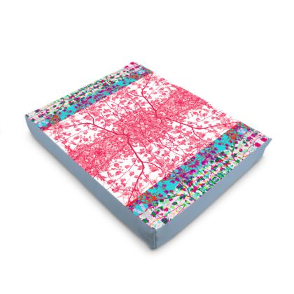 Pink Branch Damask Printed Dog Pet Bed