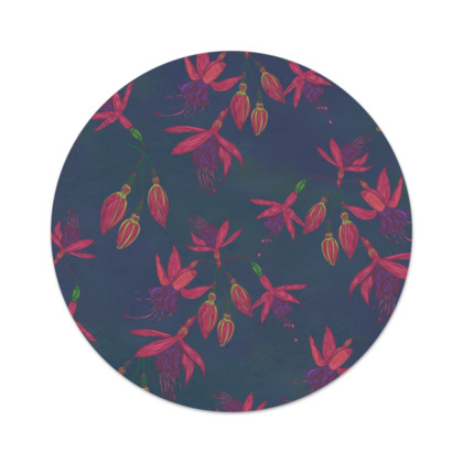 Fabulously Fuchsias (Dark) Serving Platter