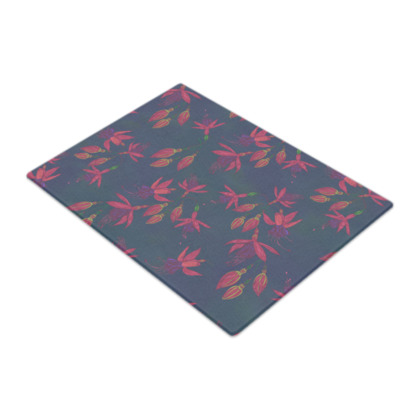 Fabulously Fuchsias (Dark) Glass Chopping Board