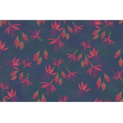 Fabulously Fuchsias (Dark) Fabric Placemat