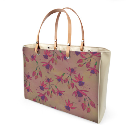 Fabulously Fuchsias (Natural) Handbag