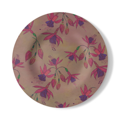 Fabulously Fuchsias (Natural) Decorative Plate