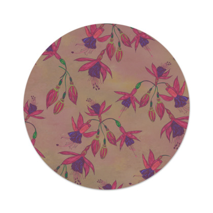 Fabulously Fuchsias (Natural) Serving Platter