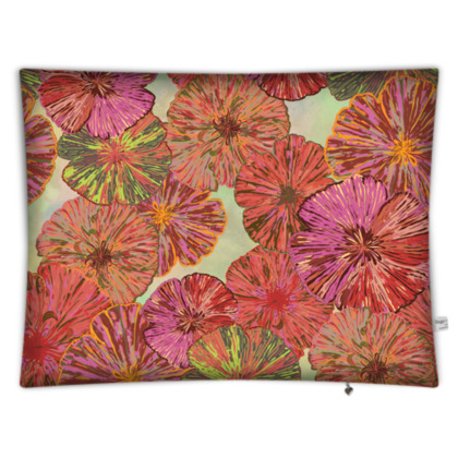 Perfect Poppy Pirouettes (Pale Green) Rectangular Floor Cushion