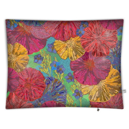 The Parting of the Poppies Rectangular Floor Cushion