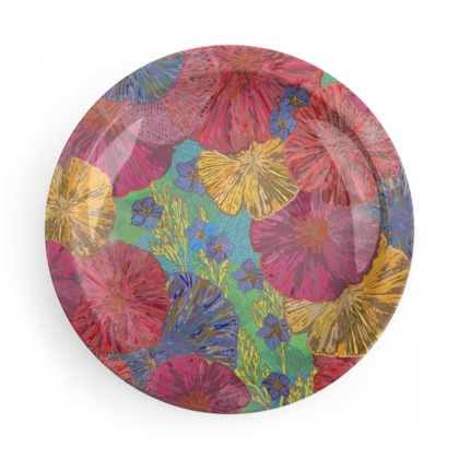 Vibrant Poppies Party Plates Set
