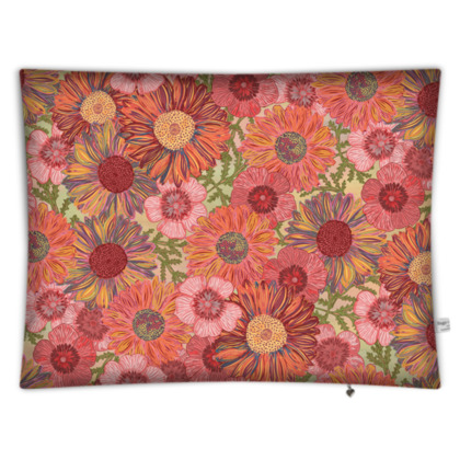 A Daisy Day (Summer Pink) Rectangular Floor Cushion