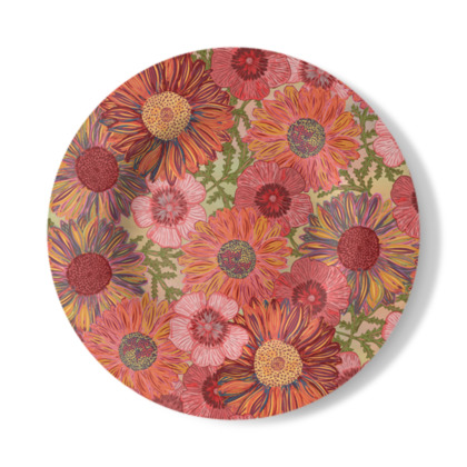 A Daisy Day (Summer Pink) Decorative Plate