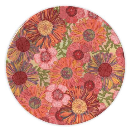 A Daisy Day (Summer Pink) China Plate