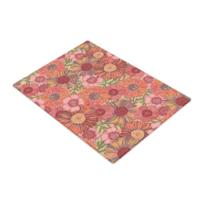 A Daisy Day (Summer Pink) Glass Chopping Board