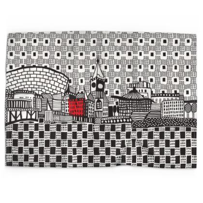 Architecture Tea Towels of Cardiff Bay