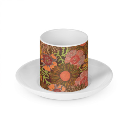 A Daisy Day (Autumn Orange) Cup